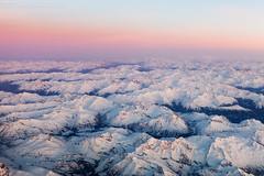 Think Pink (Boran Pivcic) Tags: windowview cockpitview aerialview alps inflight sunsetcockpitview