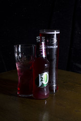 3 Purple drinks (Daisy Sparkles new) Tags: onelight lowkey nikon drinks reflections glass liquid j2o strongbow cider dark fruits alcohol pint