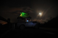 Give up the comfort to enjoy this...☺ (xanto91) Tags: landrover landrover88 nature natura camping campeggio lakemountain night stars stelle italy europe life live camp light d700 nikon