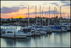 Sunset over Newport Canal-1=