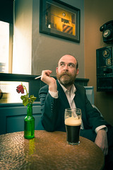 Finbar Hoban (John Mee Photography) Tags: green bar pub irishbar irish barfly smoker smoke pint beer guiness ireland mayo castlebar local character