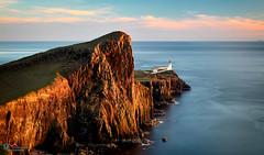 Golden Cliffs Neist Point Lighthouse (Dave Massey Photography) Tags: neistpointlighthouse cliffs isleofskye scotland dusk
