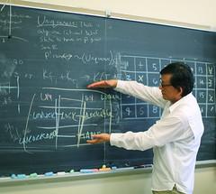 Logic Professor (Deliberate Spoonerism) Tags: professor teacher logic blackboard math language lock unique board chalkboard chalk color portrait candid school university professional