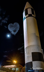 Moon and Jupiter Love Jupiter Rocket Roanoke (Terry Aldhizer) Tags: waxing moon jupiter conjuction rocket roanoke transportation museum clouds heart hearts sky night dark virginia spring may terry aldhizer wwwterryaldhizercom