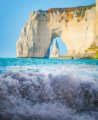 The Last Wave (ThibaultPoriel) Tags: étretat normandie normandy france landscape ocean sky seascape beach wild nature colors daylight light outdoors outdoor travel explore exploration magical beautiful fantastic tourism olympus adventure cliff rock rocks formation