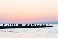 Crowded (The Hobbit Hole) Tags: moloaudace italy trieste nikon sunset d700 pier