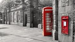 Edinburgh Zoo (Michelle O'Connell Photography) Tags: edinburgh edinburghzoo stjohnsroad entrance postbox telephone redphonebox phonebox coloursplash michelleoconnellphotography