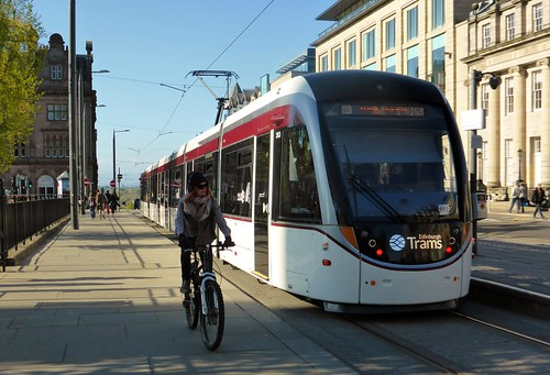 Bike and Edinburgh Tram 263 St Andrew Square