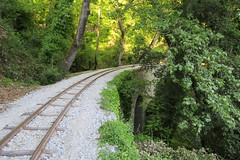 60cm  line, one of the narrowest in the world. (Κώστας Καϊσίδης) Tags: piliontrain outdoor greece pilion milies magnisia volos