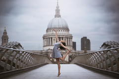 (dimitryroulland) Tags: dimitry roulland nikon d600 70200 tamron millenium bridge london natural light saintpaul dance dancer gym gymnast gymnastics sport performer art sky clouds