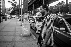A Veteran. Your country thanks it's veterans by not giving a Fuck about them..At least not those of color (Brother Christopher) Tags: streetphotography street streets bx thebronx uptown harlem subway work commute 125thstreet person people portrait portraiture monochrome blackandwhite stranger friend pose oldskool veteran explore discussion relate