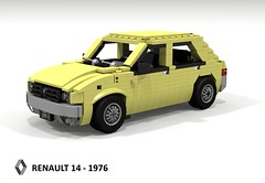 Renault 14 - 1976 (lego911) Tags: renault r14 14 hatch hatchback 5door 1976 1970s classic pear auto car moc model miniland lego lego911 ldd render cad povray lugnuts challenge 115 thefrenchconnection french connection france foitsop