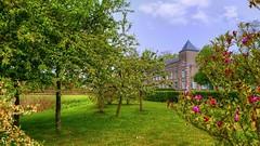 A beautiful castle 💐 (YᗩSᗰIᘉᗴ HᗴᘉS +5 400 000 thx❀) Tags: castle verdure green nature château fleur flower paradis namur belgium belgique sky bluesky clouds hensyasmine hdr
