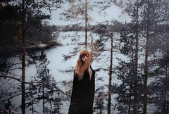 Another world (.everlasting) Tags: forest cold blackness girl selfportrait trees hair haunted haze mystic feverdreams everlasting hadararielmagar