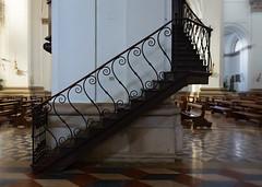 Stairs (Tiigra) Tags: padua veneto italy it padova 2014 architdetail church interior lattice repetition shape spiral stairs
