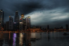 Marina Reservoir (dawniedon) Tags: marina bay barrage bayfront singapore nightscape cbd river bumboats