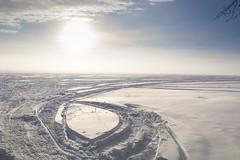 circling the sun (Barbara A. White) Tags: winter ottawariver sunrise landscape riverscape constancebay ontario
