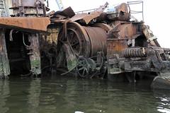 Stern Winch (95wombat) Tags: abandoned decay rotted tattered crusty marinegraveyard arthurkill staten islandnew york