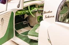 SciFi Kaiser (GmanViz) Tags: gmanviz color car automobile detail nikon d7000 1954 kaiser custom interior steeringwheel seat door badge script type chrome