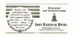 Philadelphia advertisements: (painting in light) Tags: ad advert advertisement philadelphia metropolitan opera 1920 sell selling illustration drawing art caruso academy music restaurant cocktail lounge john bartram hotel