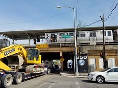 """Harlem Avenue CTA Green Line """"L"""" station (2017-04-29_11-16-45) (jdunlevy) Tags: cta greeline thel l greenlinel harlemavenue station 350 southblvd"""