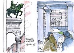petit carnet, petits dessins... (gerard michel) Tags: italia italy ferrara sketch croquis aquarelle watercolour