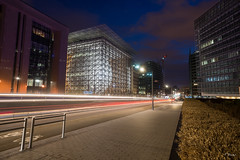 Brussels By Night (F. Boone) Tags: europa brussels schuman night lightpainting street