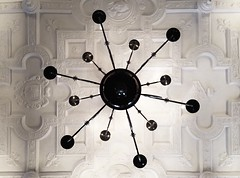 Chandelier Underview (Zee Jenkins) Tags: ceiling flickrfriday contrast design interior chandelier light lighting faded vintage classic flickrheroapp patterns white