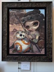Disneyland Visit 2017-04-23 - Downtown Disney - WonderGround Gallery - Star Wars Artwork - Rey and BB-8 (drj1828) Tags: disneyland us anaheim dlr visit 2017 artwork downtowndisney wondergroundgallery starwars