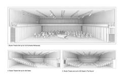 Studio theatre showing alternative seating arrangements