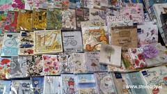 Rich Collection of Napkins (Smile Arty) Tags: gift present vintage handmade decoupage crafts arts paint supplies napkins stensils box mdf diy