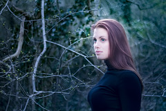 Natural beauty (Meastrology) Tags: nature portrait girl lady woman redhair bokeh beauty beautifull evening eyes eye natural forest sexy cute sweet blue blueeyes green greeneyes