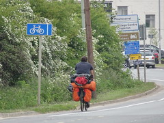 Other cyclists : The tourer (stevenbrandist) Tags: bicycle leicestershire rothley panniers travel cyclist