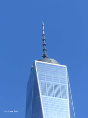 World Trade Center Spire (featfannyc) Tags: newyorkcity nyc september2016 downtownmanhattan worldtradecenter