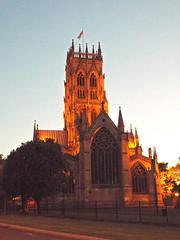 doncaster minster (47604) Tags: doncaster minster church worship evening dark flag sunset