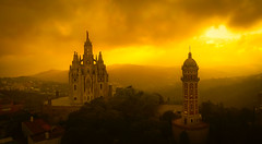 Tibidabo from Above (Stuck in Customs) Tags: barcelona spain stuckincustomscom treyratcliff dji phantom 4 quadcopter drone church sunset catalonia 80stays rcmemories airnzphotocontest interflixcontest flixbus