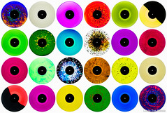 Divinyl (Linda Sue Kocsis) Tags: vinyl record lp 12 inch wax retro color colored album photo photograph pop art backlit back lit lighjt backlight backlighting photography montage collage