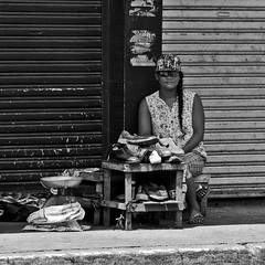 Shoe Repair (Beegee49) Tags: lady filipina street shoe repair bacolod city philippines