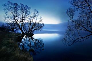 Lake McGregor at blue hour