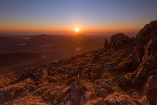 Sunset from the highest mountain in Wales