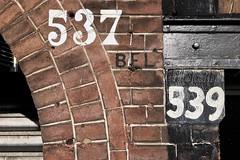537 / 539 (designwallah) Tags: iphone6sbackcamera415mmf22 numbers noordholland amsterdam netherlands iphone6s prinsengracht