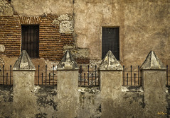 Four Pillars (Mike B's Photography) Tags: ruins travel dominican republic piller pillers brick bricks old