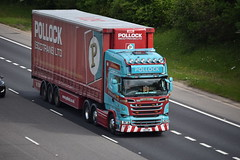 V8 FOW (markkirk85) Tags: lorries lorry truck trucks a1 motorway a1m alconbury scania r580 pollock scottrans ltd v8 fow v8fow scotrans