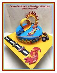 HotWheels Cake (Cake Central-Design Studio) Tags: hot wheels cake birthday themed fondant car delhi new art edible artist