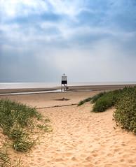 Beach Lighthouse. (bhp1956) Tags: lighthouse beach landscape water sand seascape burnhamonsea sea coast somerset clouds