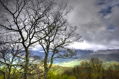 Spring in the Valleys (esywlkr) Tags: brp blueridgeparkway haywoodcounty northcarolina nature landscape trees silhouette mountains clouds sky outdoors