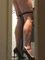 MyLeggyLady (MyLeggyLady) Tags: sex hotwife teasing milf sexy thong string nopanties upskirt panties thighs ass stilettos pumps cfm legs heels