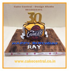 Basket Ball Cake #basket #nba #cake #themed #newdelhi #southdelhi #birthday #cakecentral (Cake Central-Design Studio) Tags: firstbrthday designercake delhi fondant themed kidscake