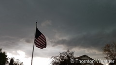 May 8, 2017 - Storm clouds on the horizon. (ThorntonWeather.com)