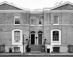 Shepperton Road (cybertect) Tags: canonfd35mmf28 london londonboroughofislington londonn1 n1 sheppertonroad sonya7 architecture blackwhite blackandwhite building house monochrome houses homes housing uk